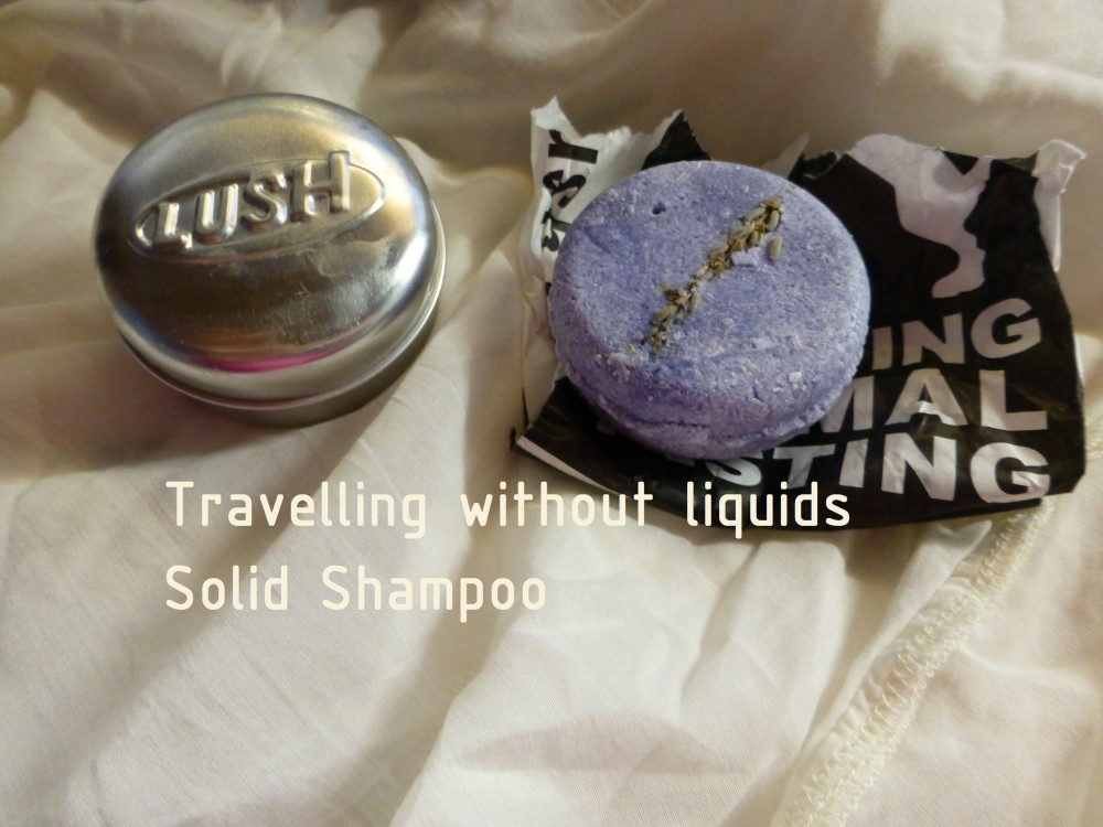 Travelling without liquids solid shampoo