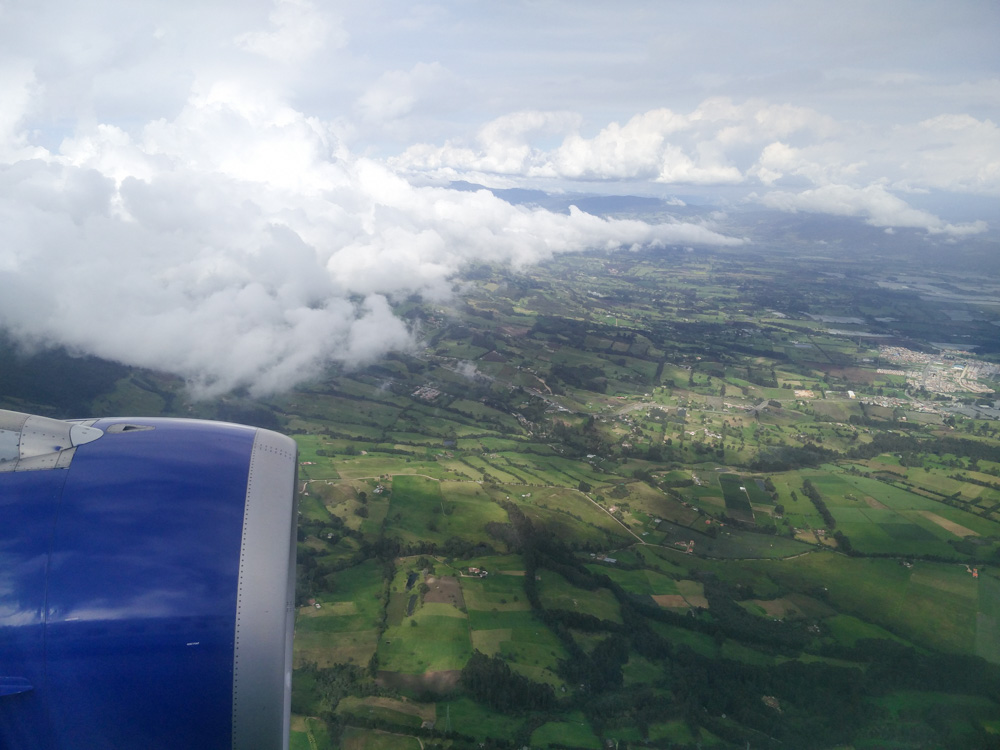 Bogota Eindrücke von oben