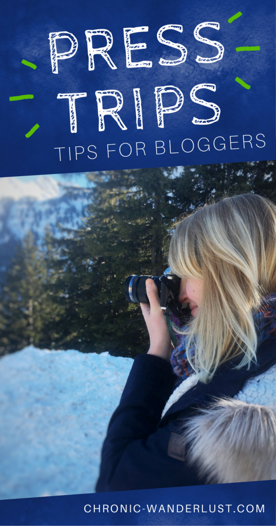 Press trip tips for bloggers