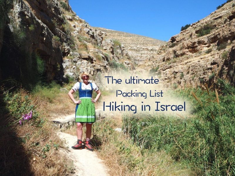 Israel Hiking Packing List Portal klein